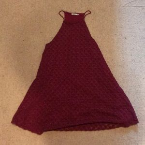 Maroon Halter Dress